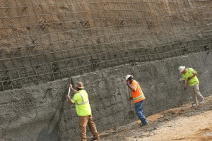 US 29 Soil nail wall with team Uretek